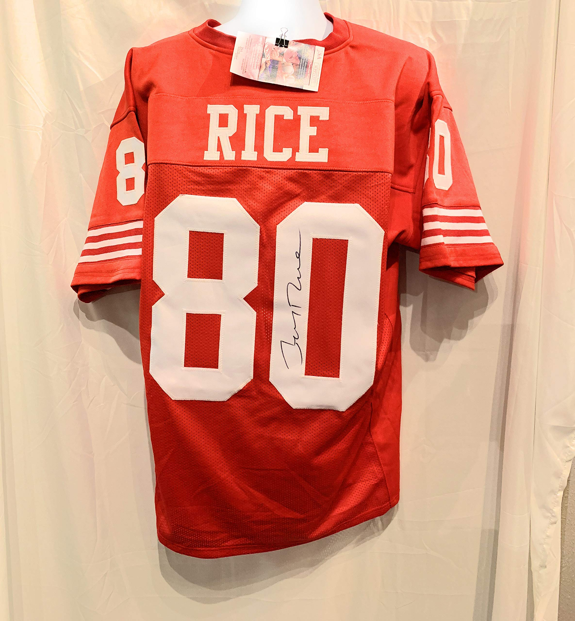 Jerry Rice San Fransico 49ers Signed Autograph Custom Jersey JSA Witnessed Certified