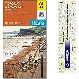Ordnance Survey Pack - Explorer Map 110 ~ Torquay & Dawlish plus scale ruler