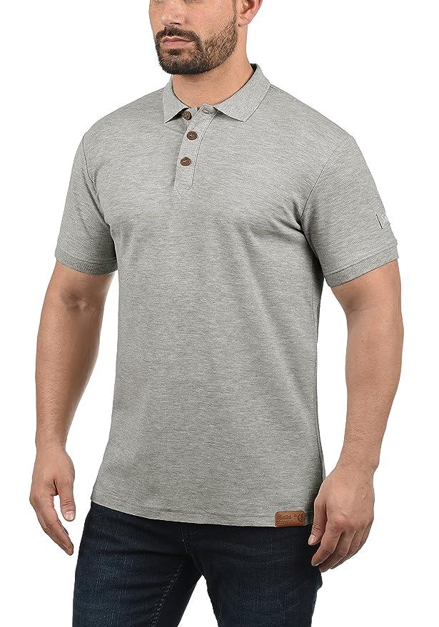 Solid TripPolo Camiseta Polo De Manga Corta para Hombre con Cuello ...