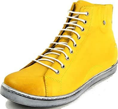 Andrea Conti,Sneaker,Schuh,ocker,Leder,Damen Gr.37,38,39,40,41,42