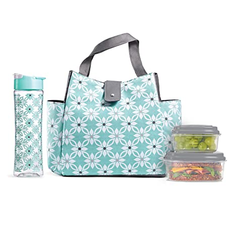 6f6755379c3 Fit & Fresh Westport Insulated Lunch Bag Cooler Bag Tote Bag Kit for Women /Work