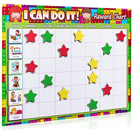 Magnetic Behavior Chart Teacher Parent Planning Reward Chore Board 1 Kid System