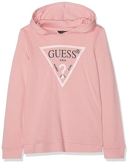 Guess Guess Mädchen Hooded Ls Fleece Pullover, Carousel Pink