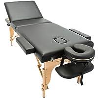 Massage Imperial® - tragbare Profi-Massageliege Arlington - leicht 14 Kg - 3 Zonen - Schwarz