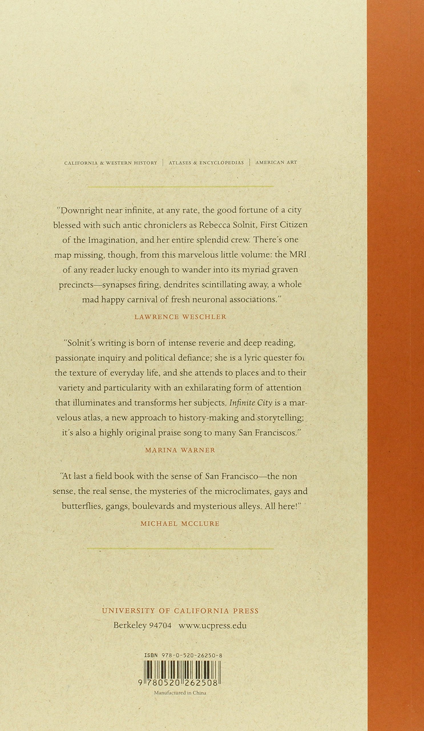 Infinite City: A San Francisco Atlas: Rebecca Solnit: 9780520262508:  Amazon: Books