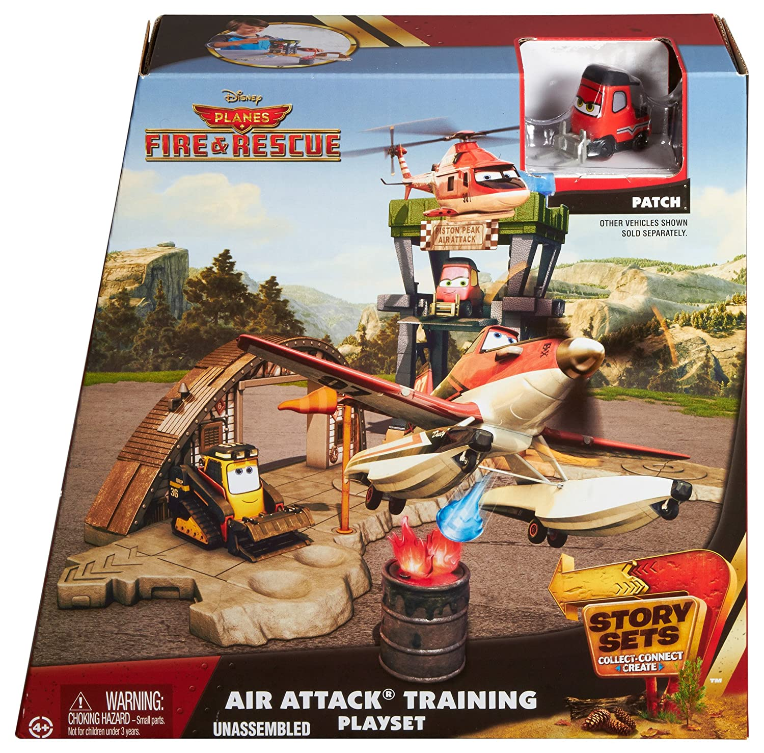 Amazon.com: Mattel Disney Planes: Fire & Rescue Story Playset 1 ...