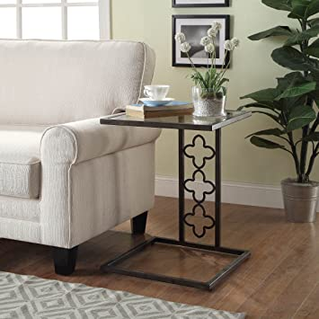 Carolina Chair And Table Nico Quatrefoil Bronze Metal/ Glass Accent Table
