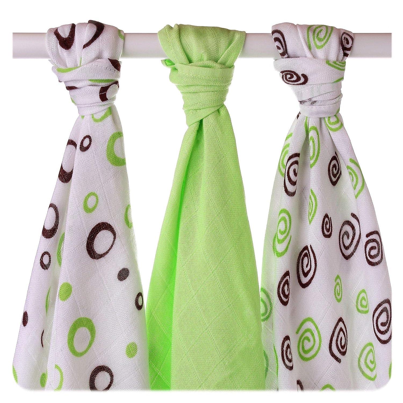 Farbe:Farbmix Fr/ühling 3 tissus de coton e bambou
