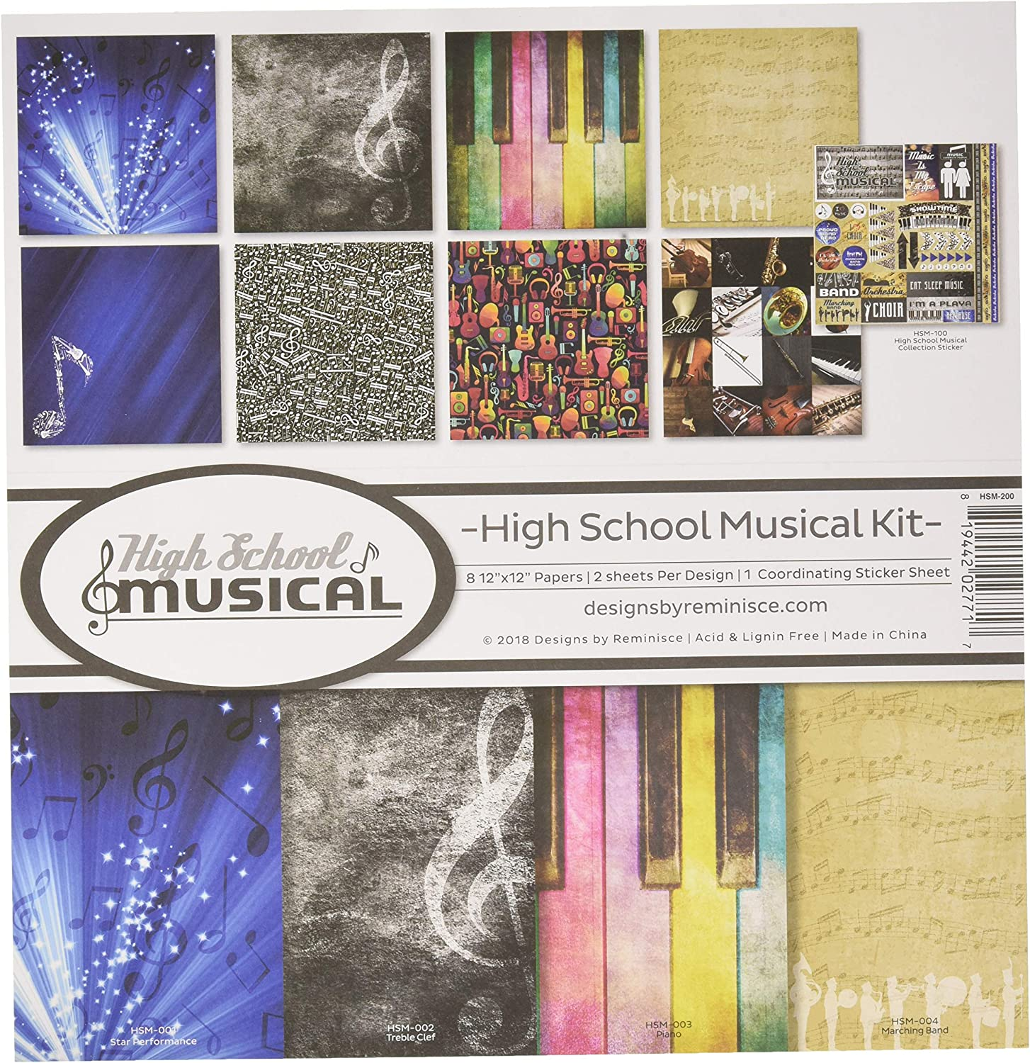 """Reminisce MUS200  Collection Kit 12/""""X12/""""-Musicality"""