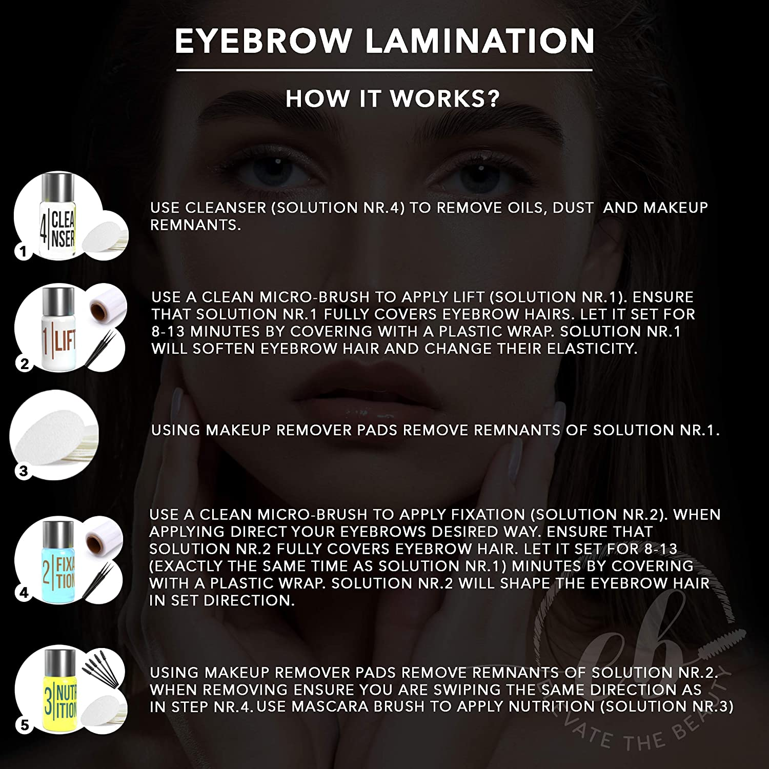 Elevate the Beauty Eyebrow And Lash Lamination Kit | DIY Perm For Lashes and Brows | Professional Lift For Trendy Fuller Brow Look And Curled Lashes | Eyebrow Brush And Eyelash Micro Brushes Added : Beauty