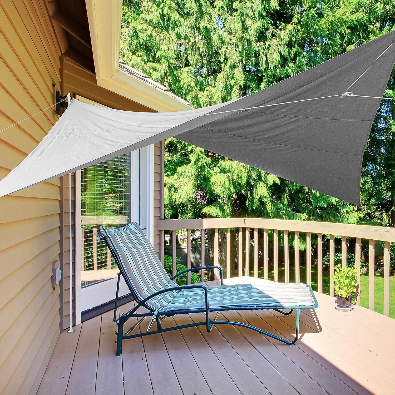 Ribelli Sonnensegel Sonnenschutz f/ür Garten Balkon und Terasse Rechteck UV Schutz 50 2x3m, Beige Schattenspender Wasserabweisend impr/ägniert Wetterschutz