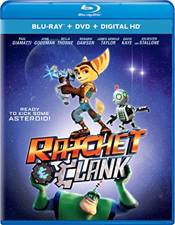 Poster of Ratchet and Clank 2016 Full Hindi Dual Audio Movie Download BluRay 720p