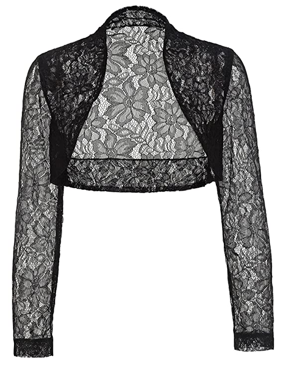 Steampunk Tops | Blouses, Shirts Belle Poque Womens Long Sleeve Floral Lace Shrug Bolero Cardigan JS49 $16.99 AT vintagedancer.com