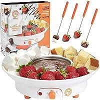 MasterChef - Fuente de postre eléctrico para fondue con 4 tenedores y bandeja para servir fiestas