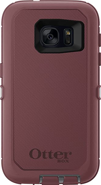 on sale e46b1 8229e OtterBox DEFENDER SERIES Case for Samsung Galaxy S7 (ONLY) Case Only/No  Holster - Non-Retail Packaging - GUNMETAL GREY/MERLOT PURPLE