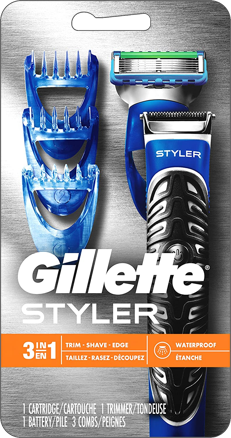 All Purpose Gillette Styler Beard Trimmer, Men s Razor Edger – Fusion Razors for Men Styler