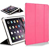 Forefront Cases Leather Case Cover with Magnetic Auto Sleep Wake Function for 7.9 inch Apple iPad Mini with Retina Display - Pink