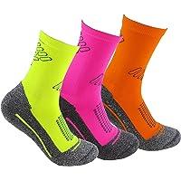 Calcetines deportivos (3 pares) SIN COSTURAS de alto rendimiento para hombre o mujer. Ideales para deportes como running…
