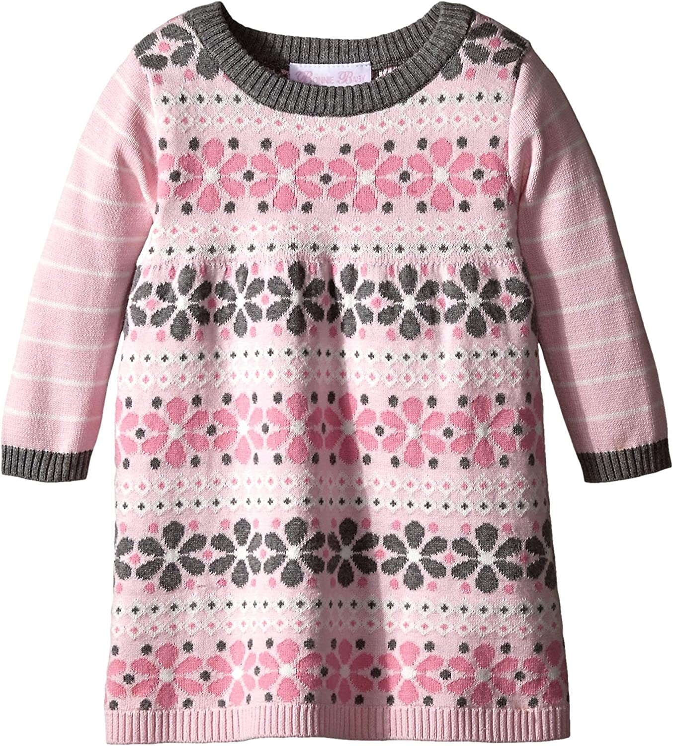 Bonnie Baby Baby Girls Long Sleeve Sweater Dress