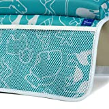 Deluxe Bath Kneeler & Elbow Rest. Extra Wide, Thick Cushioned Knee Pad & Elbow Rest for Support & Protection. Neoprene, Mesh Pockets for Mold Resistance & Machine Washable.Toy Organizer.Non-Slip Base