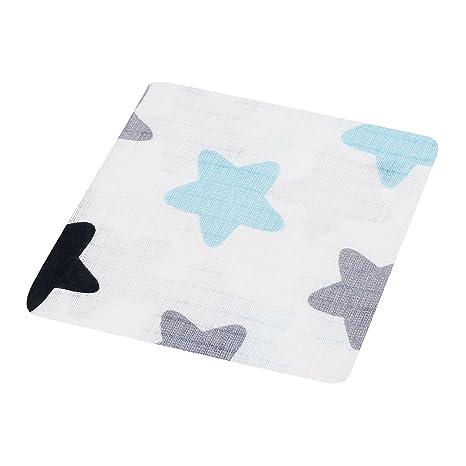 1 x 100 % algodón de alta calidad bebé muselina cuadrados, grande 80 x 70