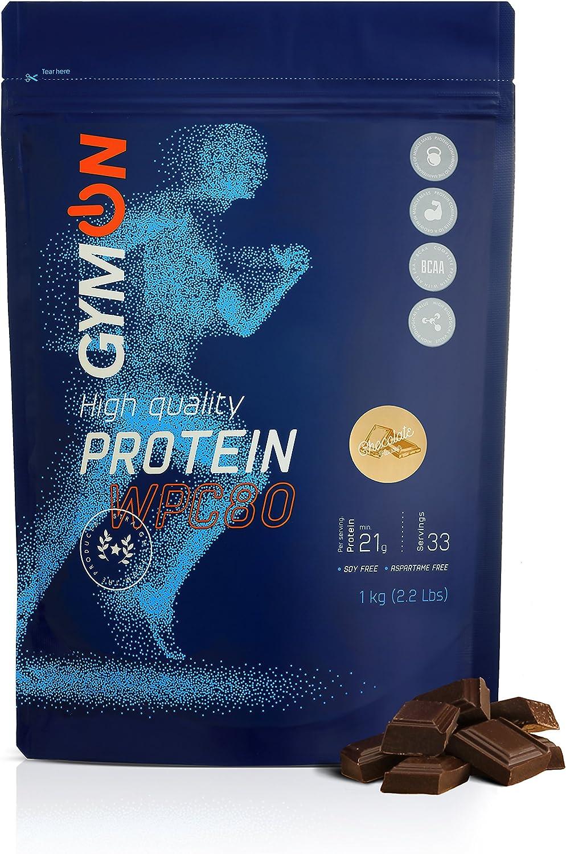 GYMON Whey Protein Shake. Concentrado de proteína de suero de leche, 33 porciones 1000g (Chocolate)