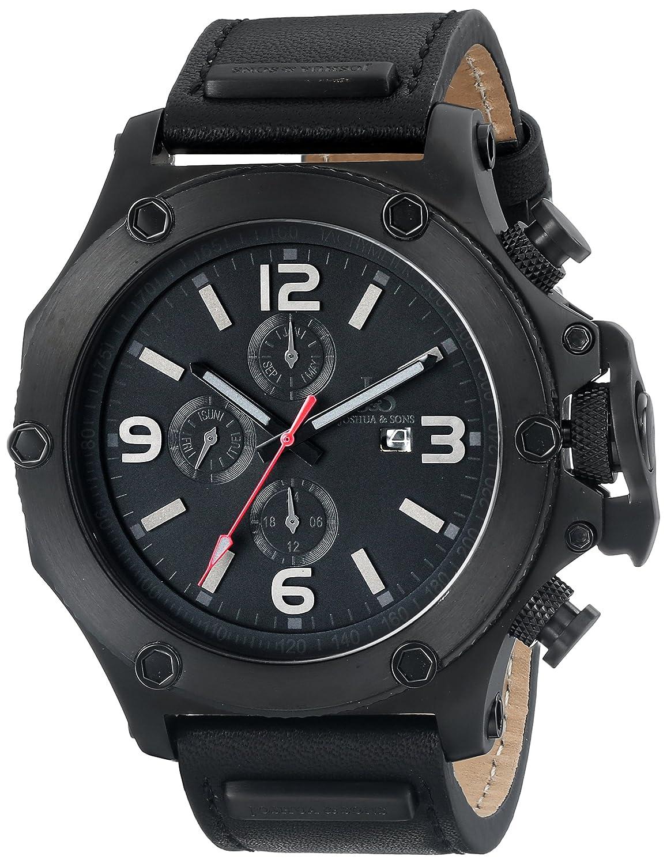 Joshua & Sons Herren-Armbanduhr Analog Quarz JS75BK