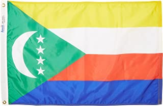 product image for Annin Flagmakers Model 191792 Comoros Flag Nylon SolarGuard NYL-Glo, 2x3 ft, 100% Made in USA to Official United Nations Design Specifications