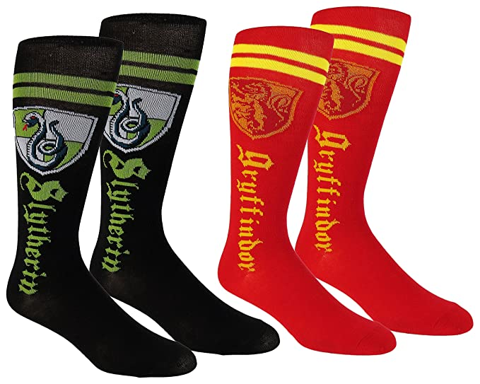 Harry Potter Womens Knee High Socks 2 Pair Pack,Shoe Size 4-10 Multi Colors