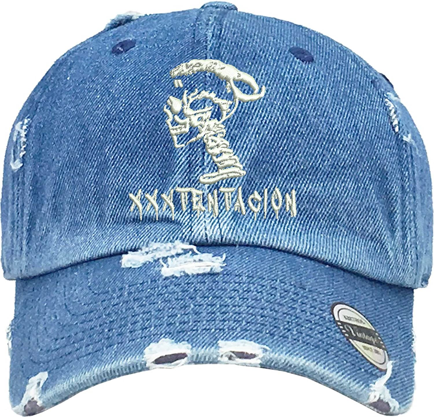 93b9e67faf4 Allntrends Adult Dad Hat Skull Xxxtentacion Embroidered Cap Cool Dad Hat  (White)  Amazon.ca  Clothing   Accessories