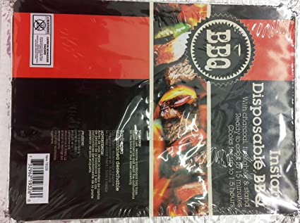 BBQ Grill Instant Disposable BBQ Charcoal Small Cooks Up To 1.5 Hour Pk Of 1.
