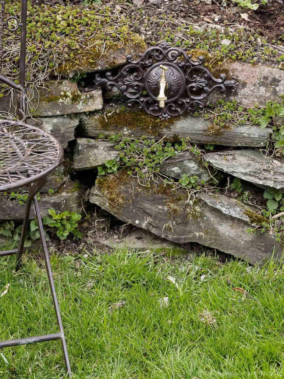 aubaho Raccordement eau fer rosette ornementale robinet jardin de style