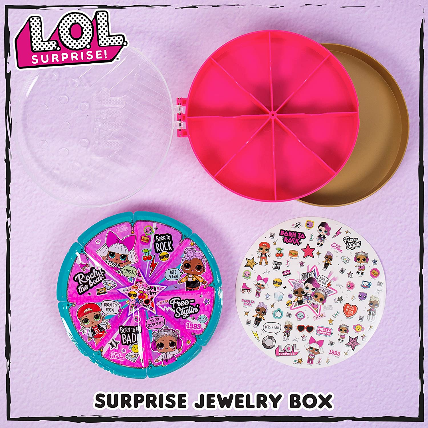 L.O.L Surprise Reveal Jewelry Box by Horizon Group USA