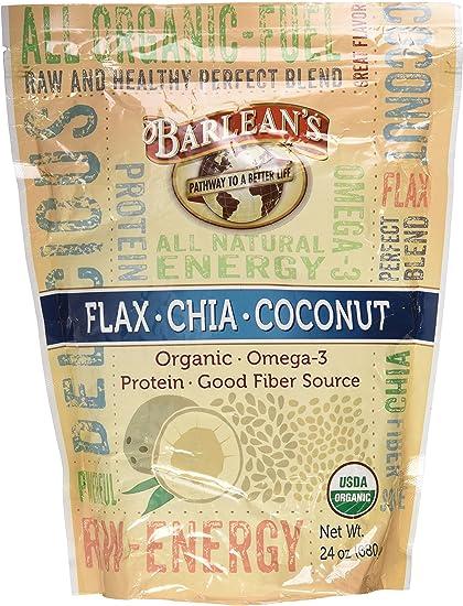 Amazon.com: De Barlean Lino Chia mezcla de coco 24 oz ...