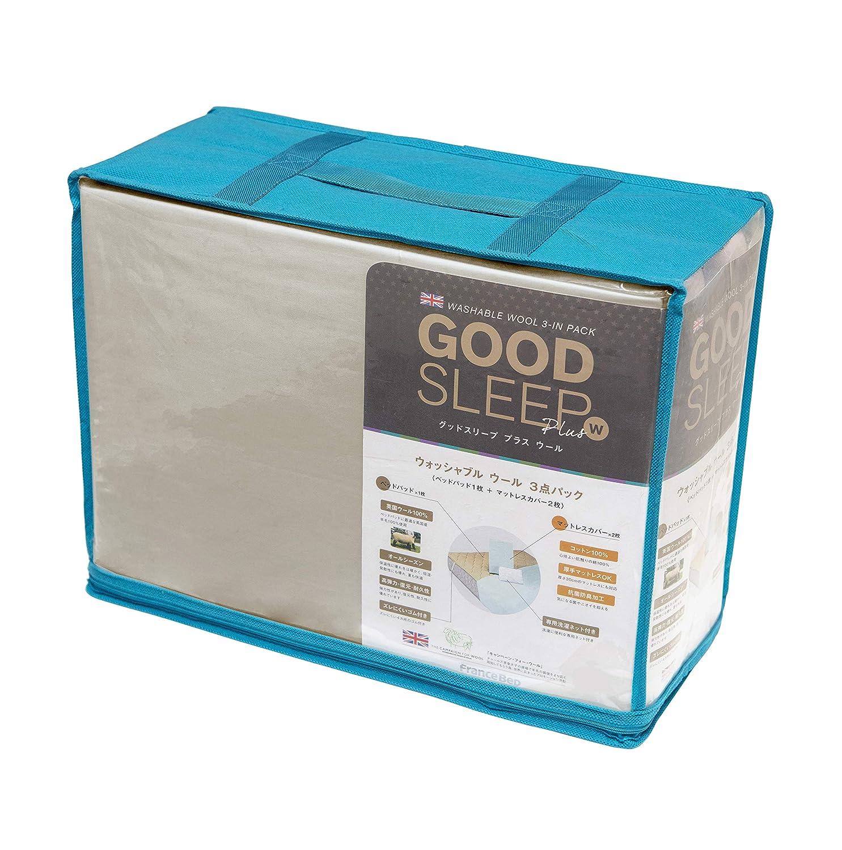 フランスベッド ベットパッド ベージュ ベッドパッド122×195cm グッドスリーププラス 036005280 B01DKIZ242