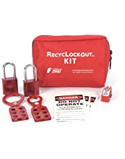 ZING 2731 RecycLockout Lockout Tagout Kit with Aluminum Padlocks, 11 Component, General Application