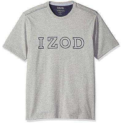 IZOD Men's Short Sleeve Logo T-Shirt at Men's Clothing store