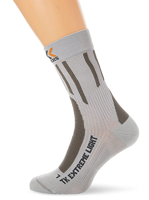X-Socks Trekking Extreme Light - Calcetines para hombre, color gris, talla UK
