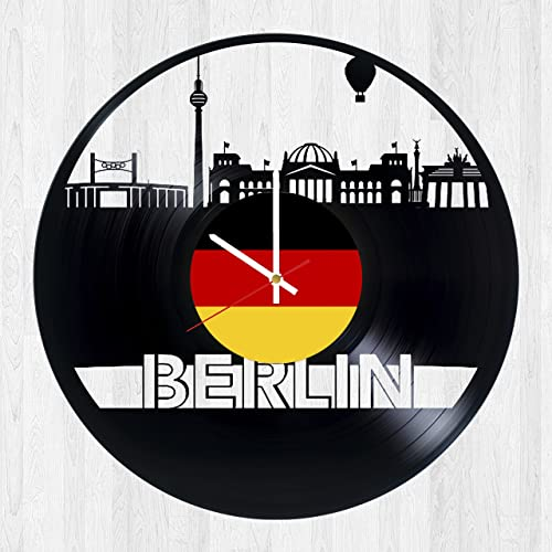 a9b71ced6 Berlin Vinyl Record Wall Clock - Get unique kitchen wall decor - Gift ideas  for him and her – Unique city art design - Leave us a feedback and win your  ...
