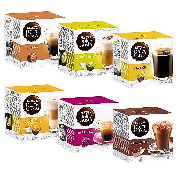 Nescafé Dolce Gusto Set Basic: Lungo, Cappuccino, Latte Macchiato ...