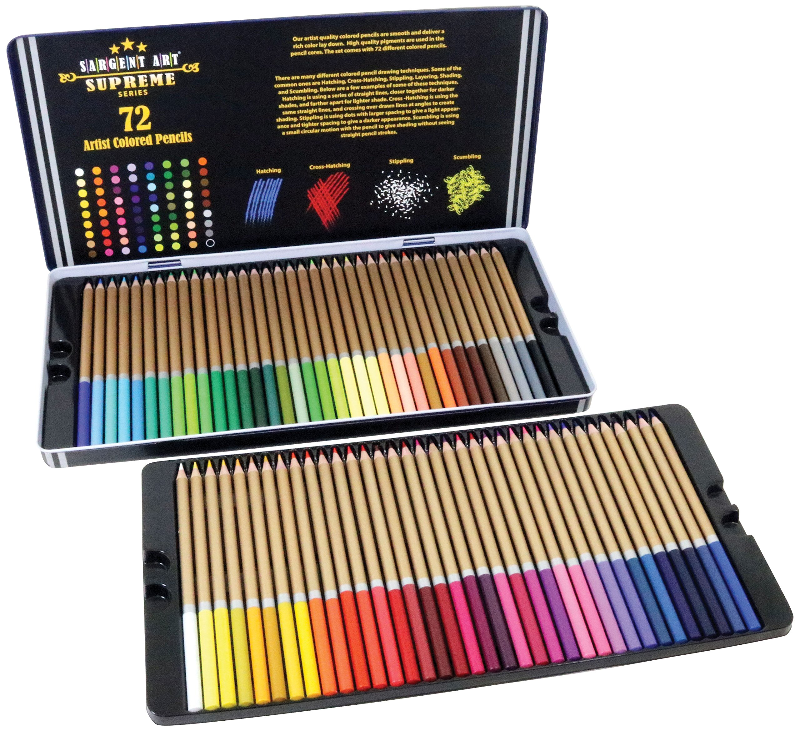 sargent art 22 7287 72ct colored pencils artist quality coloring