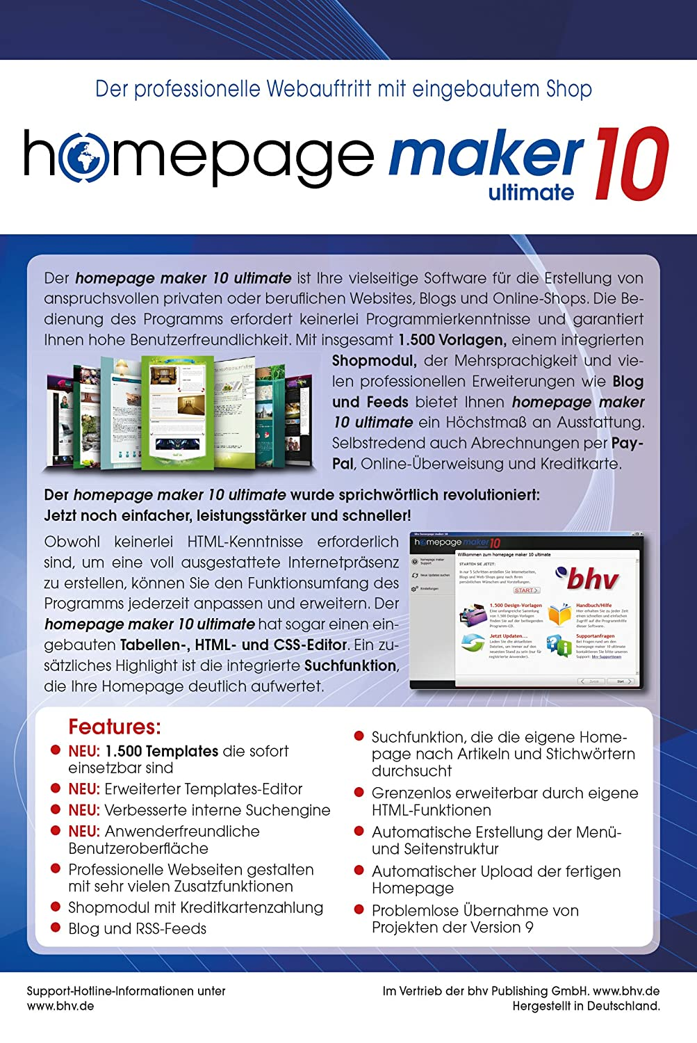 Homepage Maker 10 Ultimate: Amazon.de: Software