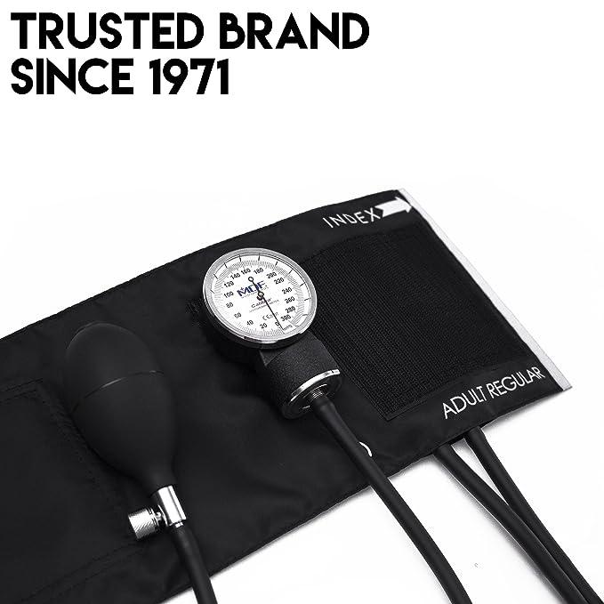 MDF® Esfigmomanómetro aneroide Calibra - Monitor de presión arterial - Negro (MDF808M-11): Amazon.es: Salud y cuidado personal