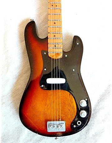 Guitarra en miniatura decorativa Guitarra Guitar Fender Rojo 24 cm mano de madera # 132
