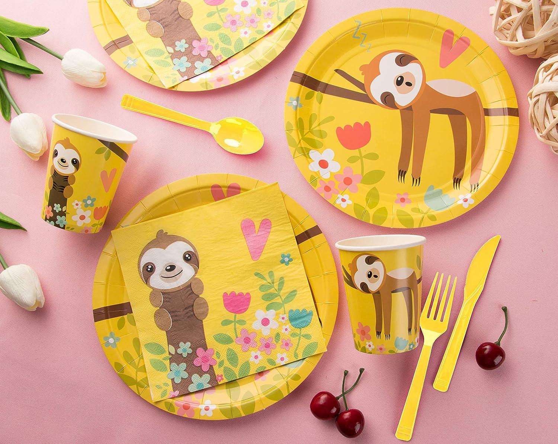 Piatti di Carta Serve 24 tovaglioli Blue Panda Monouso stoviglie Set Bicchieri Simpatici Animali a Tema Forniture pigrizia Festa per i Bambini di Compleanno