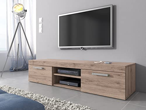 TV Unit Cabinet Stand Mambo Body Oak (San Remo) / Fronts Oak (San