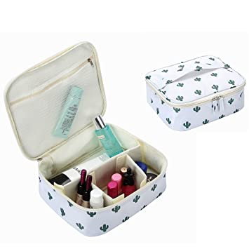 7e4c9ea3f619 HOYOFO Travel Makeup Bag Multifunctional Portable Cosmetic Case Toiletry  Organizer with...