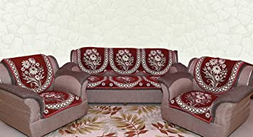 Zesture Bring Home Floral 6 Piece Cotton Sofa And Chair Cover Set