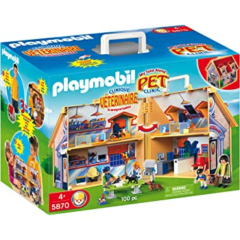 Amazon.com: PLAYMOBIL Carrying Case Vet Clinic Playset