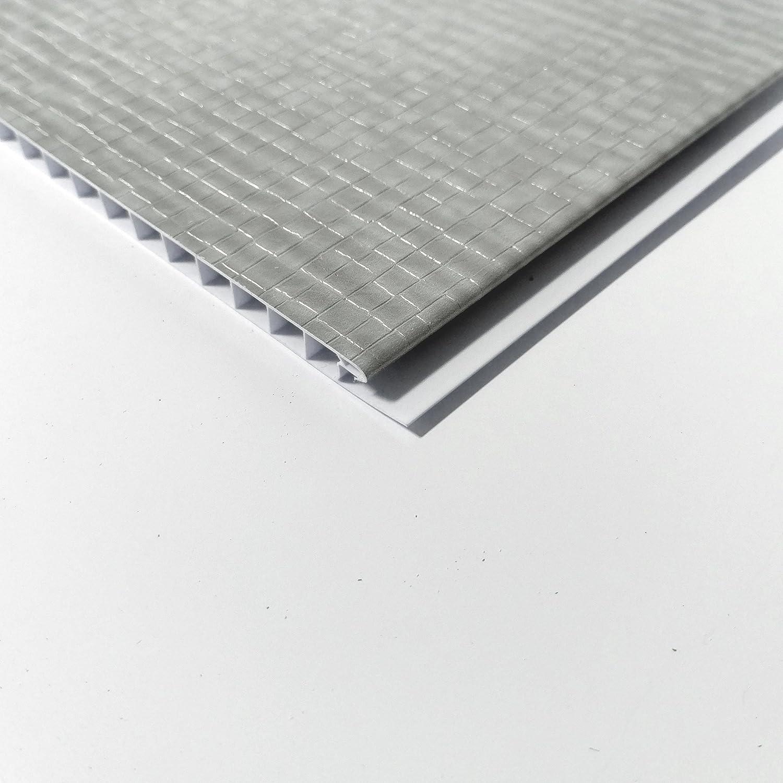 Elegance luz gris mosaico efecto PVC paneles de pared 3d para ...